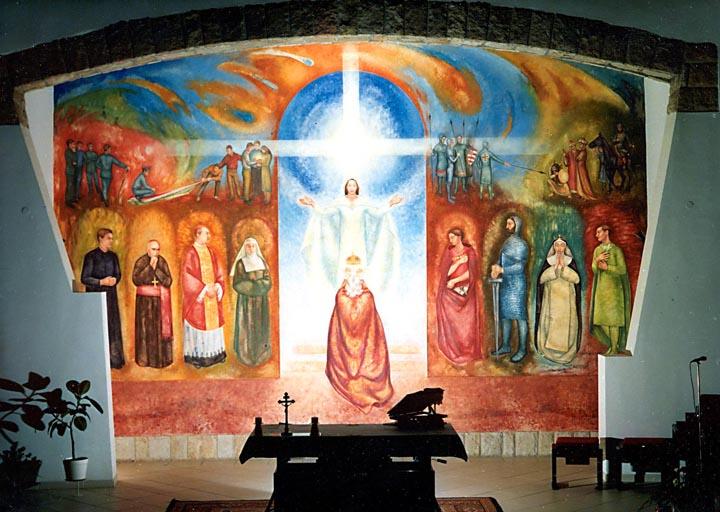 Szent István felajánlja az országot- Alsőgöd, Szent István Templom