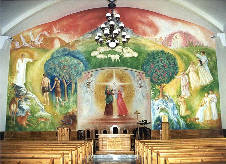 Szent Anna templom oltár - Encs, Szent Anna templom