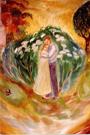 Házasságkötő terem falképe - Szerelem részlet 3